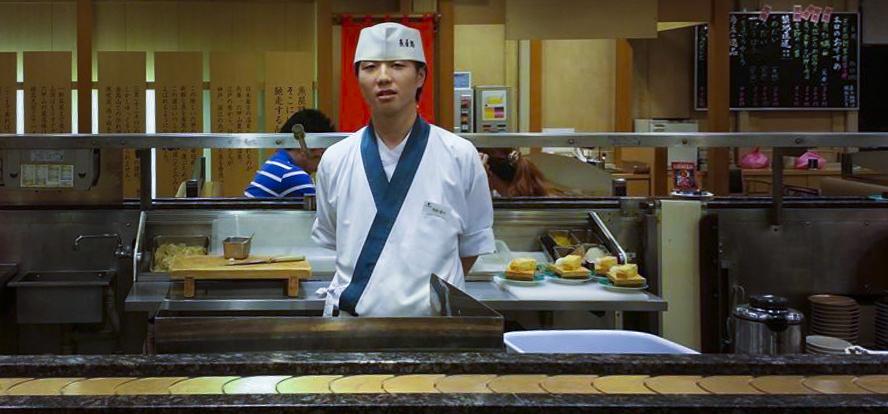 sushi chef totoya michi tokyo, japan