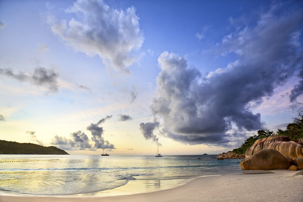 beach wedding in Anse Lazio Praslin island Seychelles