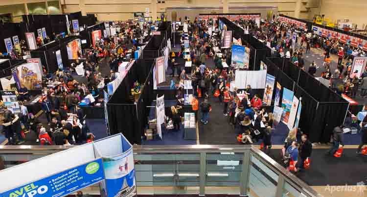 Toronto Travel Expo view from above