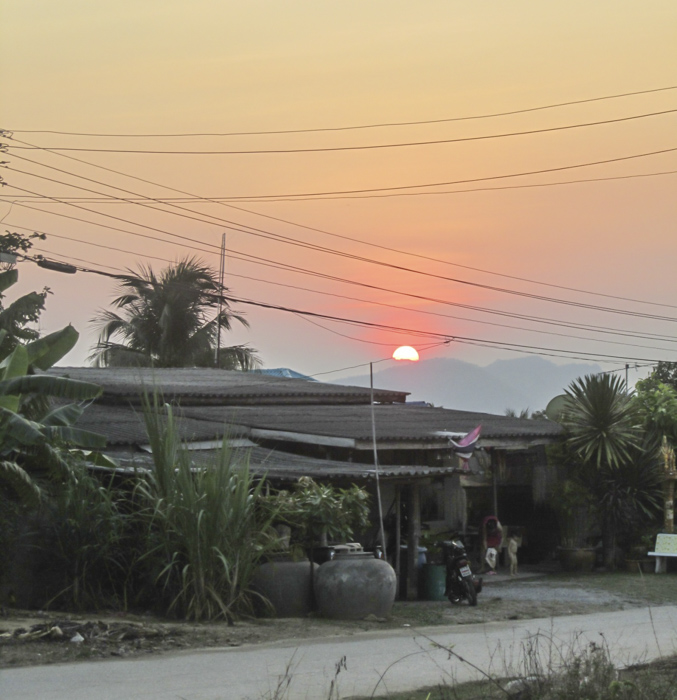 sun in the background - Thailand