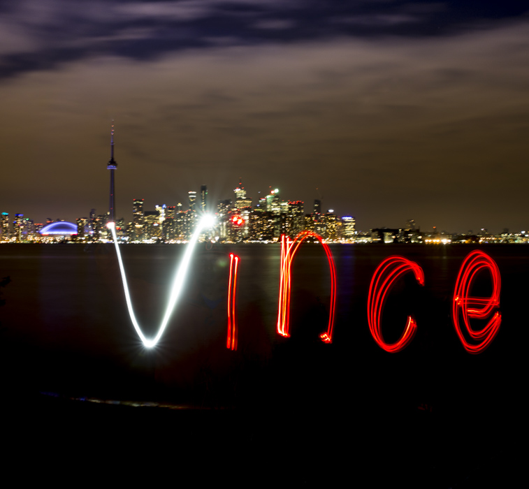 Painting with Light on Centre Island