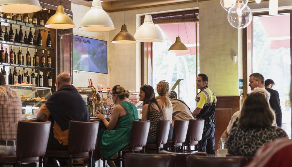 Bar type setting at Barcelona Restaurant Navarra