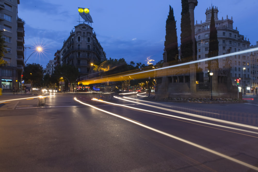 Long Exposure Photography in Barrio Sagrada Familia