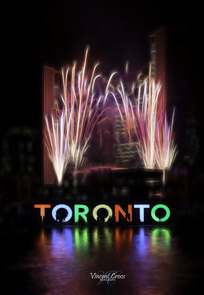 Pan Am Fireworks At Nathan Phillips Square