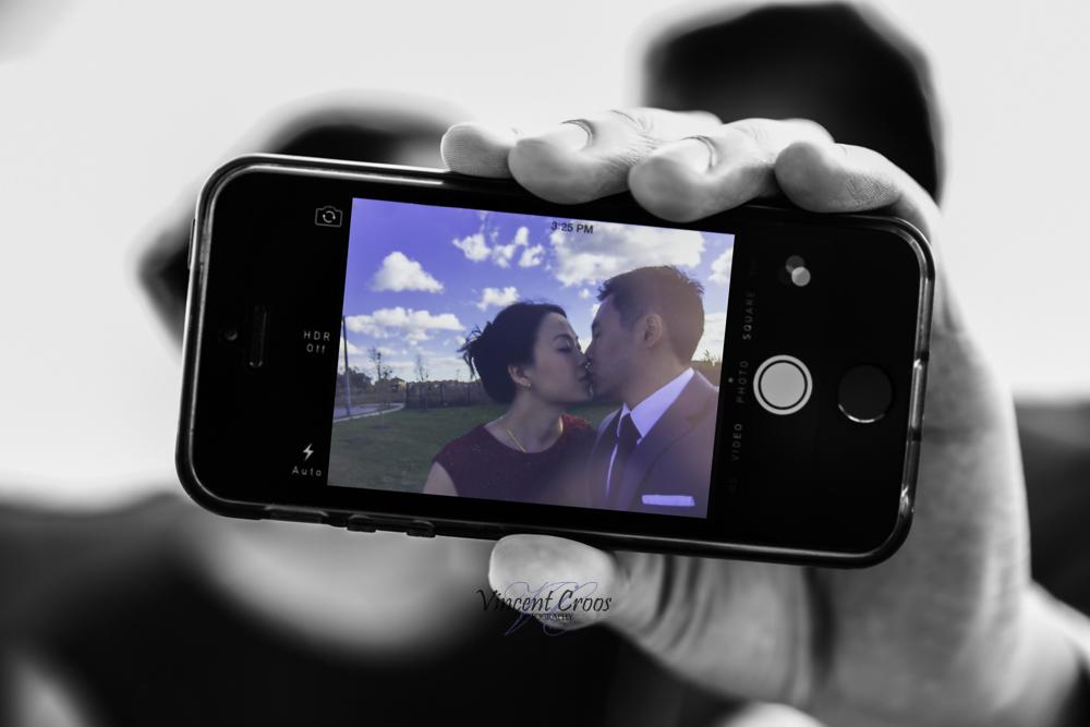 cell phone photo - Toronto Wedding Photographer