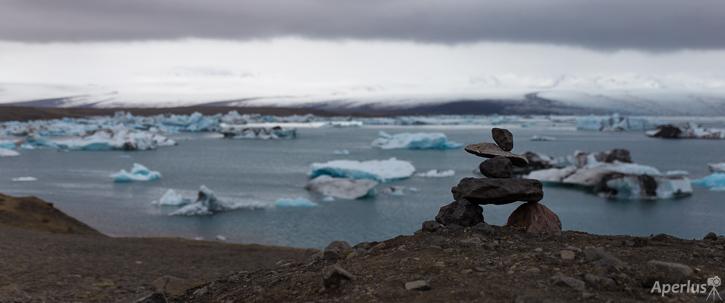 Inukshuck in Jokulsarlon - Iceland Photography