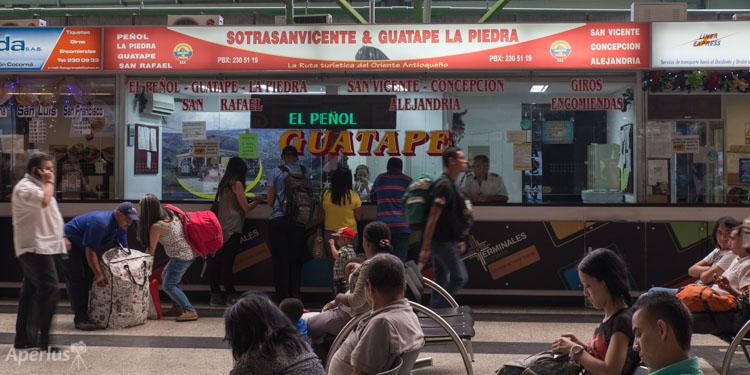 Sotrasanvicente ticket booth at the Medellín North Terminal.