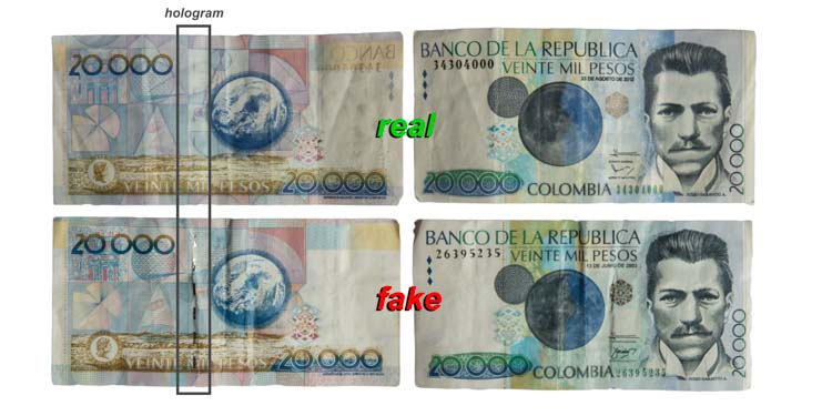 Colombia Taxi Scam with Counterfeit Colombian Pesos