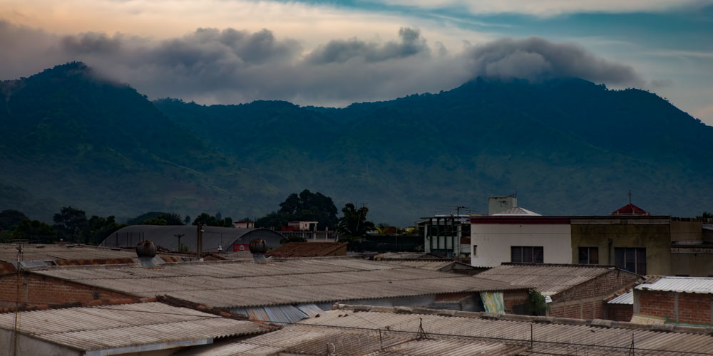 The landscape behind Santa Ana, El Salvador.
