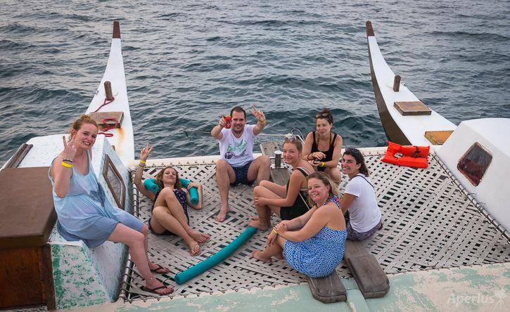 Habla Ya Students on Catamaran