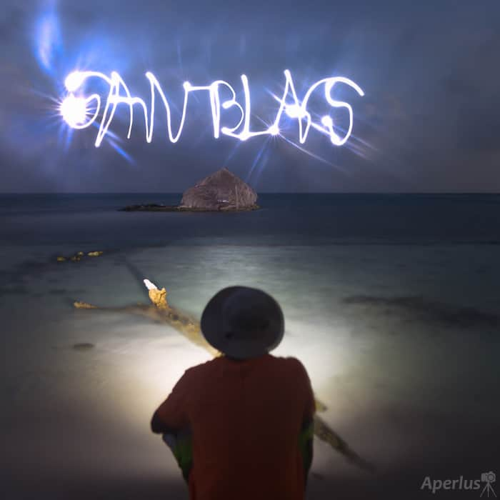 painting with light photography, san blas islands
