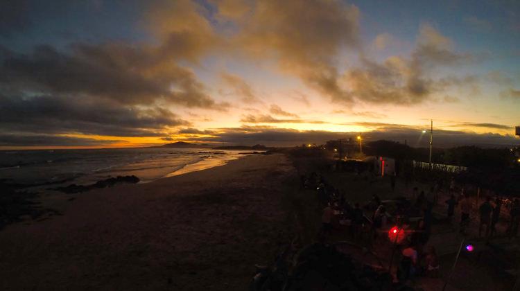 Galapagos Sunset Video from Puerto Villamil, Isabela Island