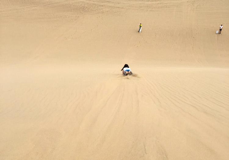 Huacachina Sandboarding girl
