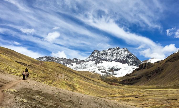 To Rainbow Mountain by horseback