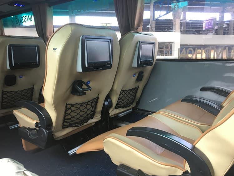 Green Bus Thailand bus seats