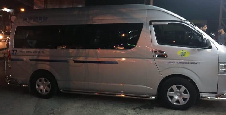minibus used for Phuket airport transfer