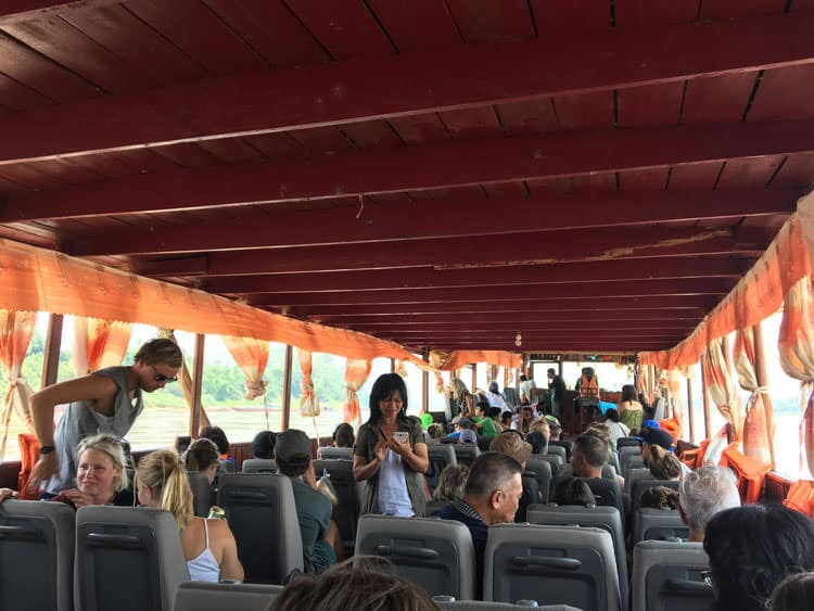 inside slow boat from Huay Xai to Pak Beng