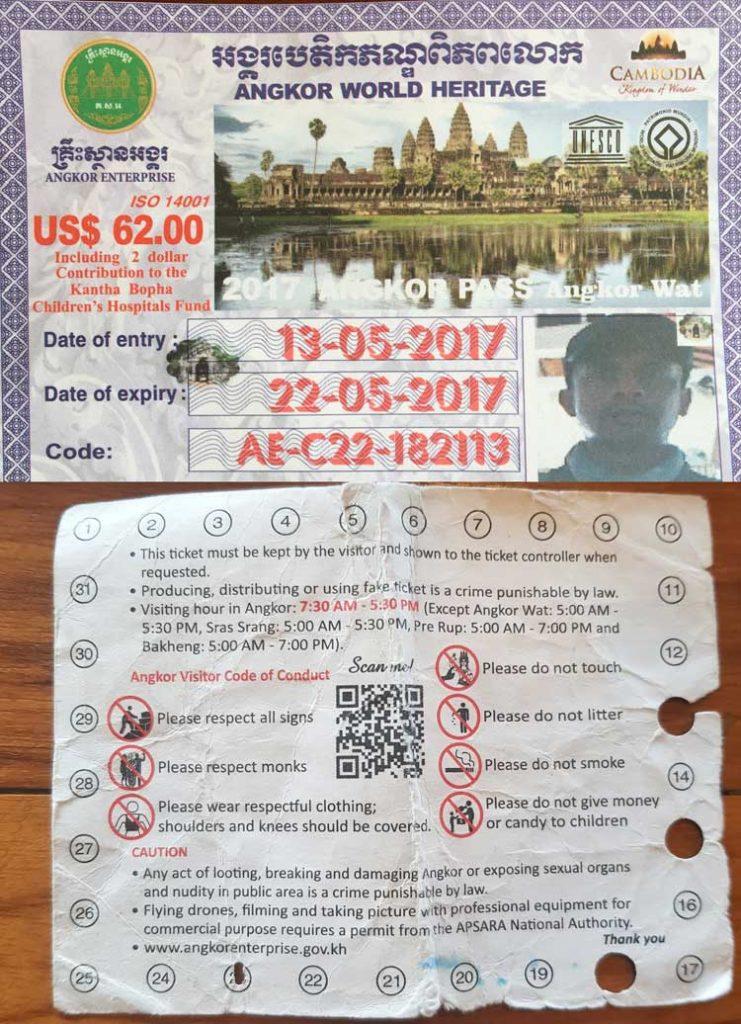 Angkor Wat 3 day pass