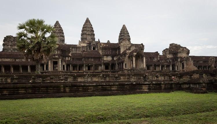 rear entrance to Angkor Wat