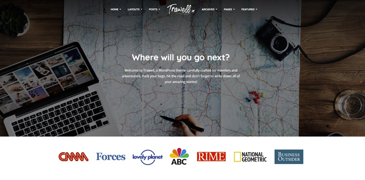 professional wordpress travel blog theme