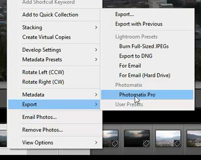 Photomatix lightroom plugin
