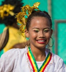 Barranquilla Carnivallittle girl smiling