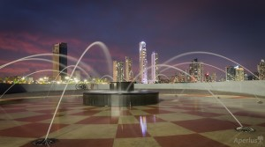 long exposure photography water fountain cinta costera