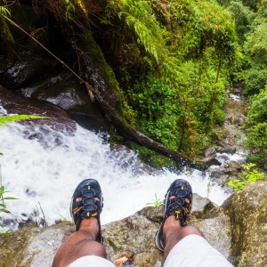 on top of waterfall boquete cloud forest